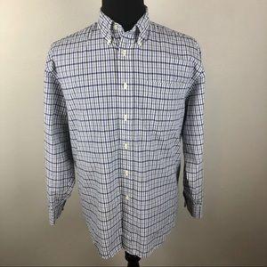 C.C. Filson Cotton Plaid Checked Shirt Men's L